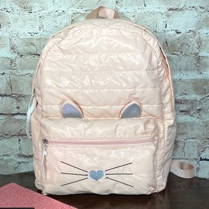 Puffy Kitty Cat Backpack